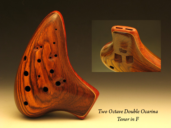 two octave double ocarina by Charlie Hind